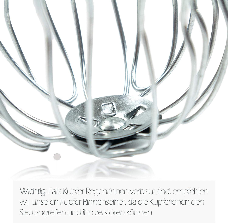 Dachrinnen Sieb als Laubschutz f/ür den Ablaufstutzen Laubsieb korrosions- und UV-best/ändig 3er Set Laubfang Rinnensieb verzinkt 120 mm Laubfangkorb DN 120