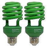 SleekLighting 23 Watt T2 Green Light Spiral CFL