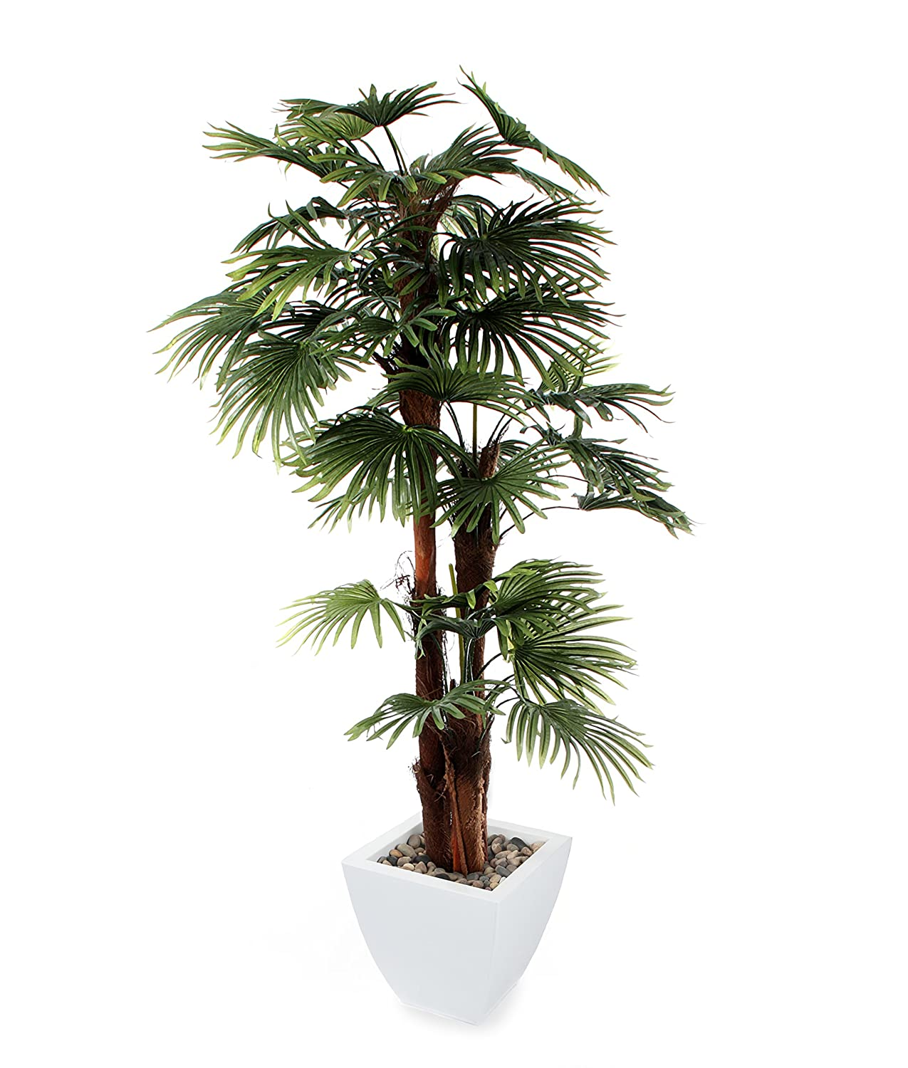 Closer2Nature Artificial 6ft Finger Palm Tree   Portofino Planter Not  Included