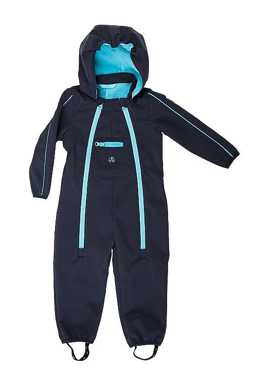 Elka Baby Softshell Overall Softshellanzug in 2 Farben Größe 80 – 104 wasserdicht und wasserabweisend Wassersäule 3000 mm Atm
