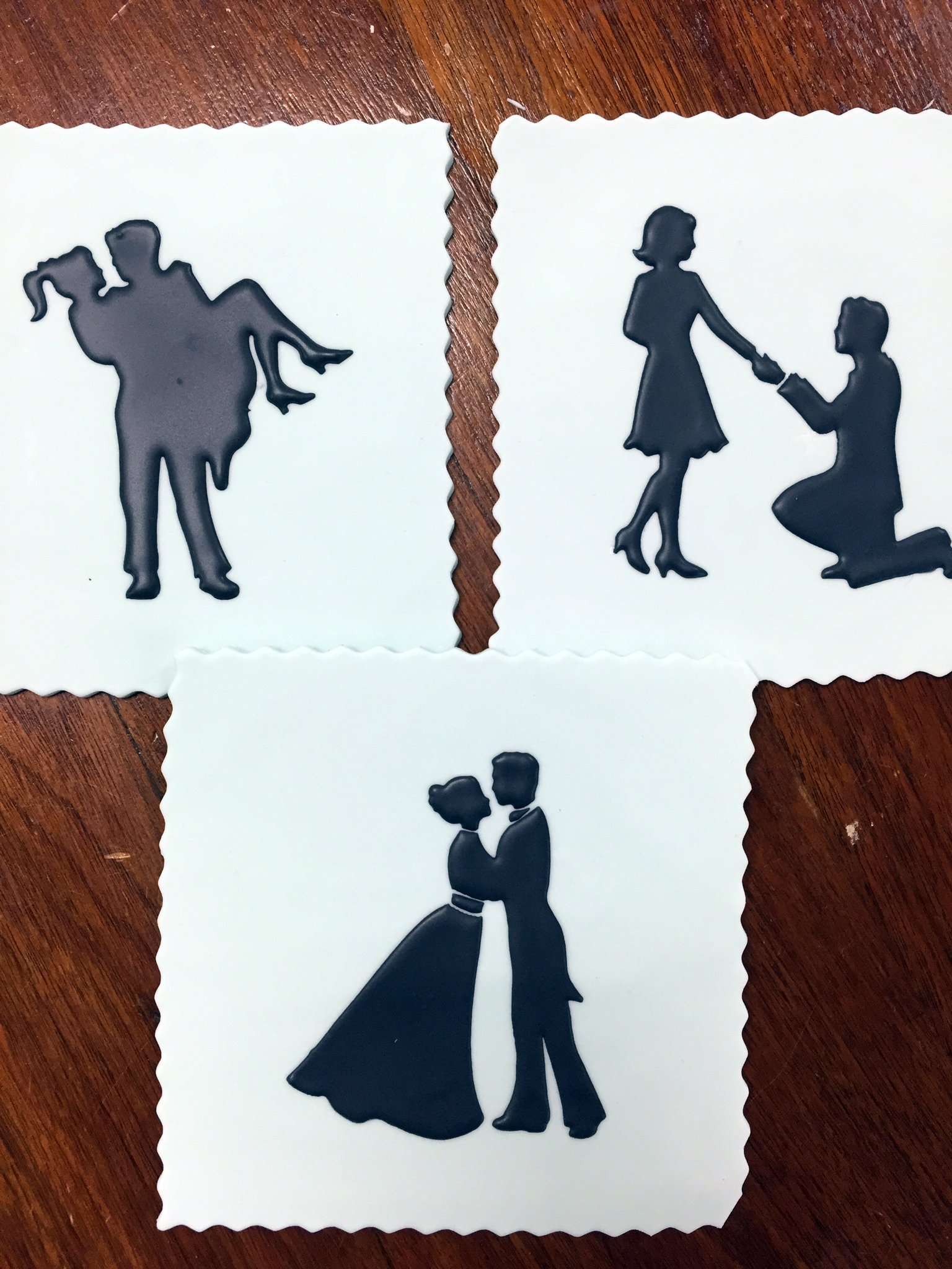 Stages of Love Silhouette Cake Stencils by Designer Stencils