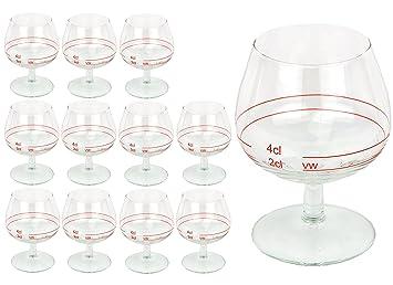 12 Stück Cognacschwenker Casino Rotring mit Eichstrich 2cl van Well Cognacgläser