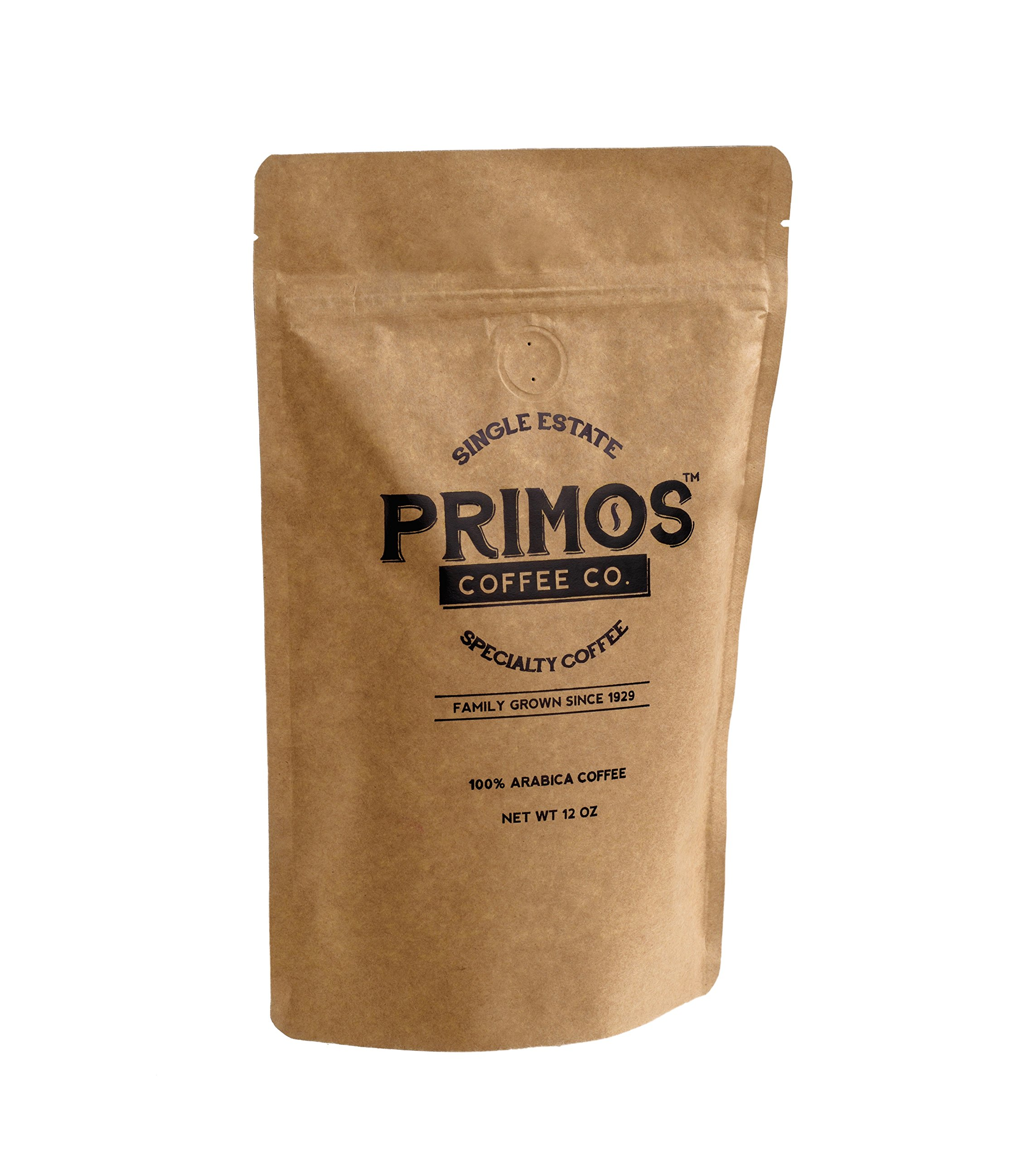 Single Origin Specialty Coffee, Medium Grind, Primos Coffee Co (Medium Roast, 12 Oz)