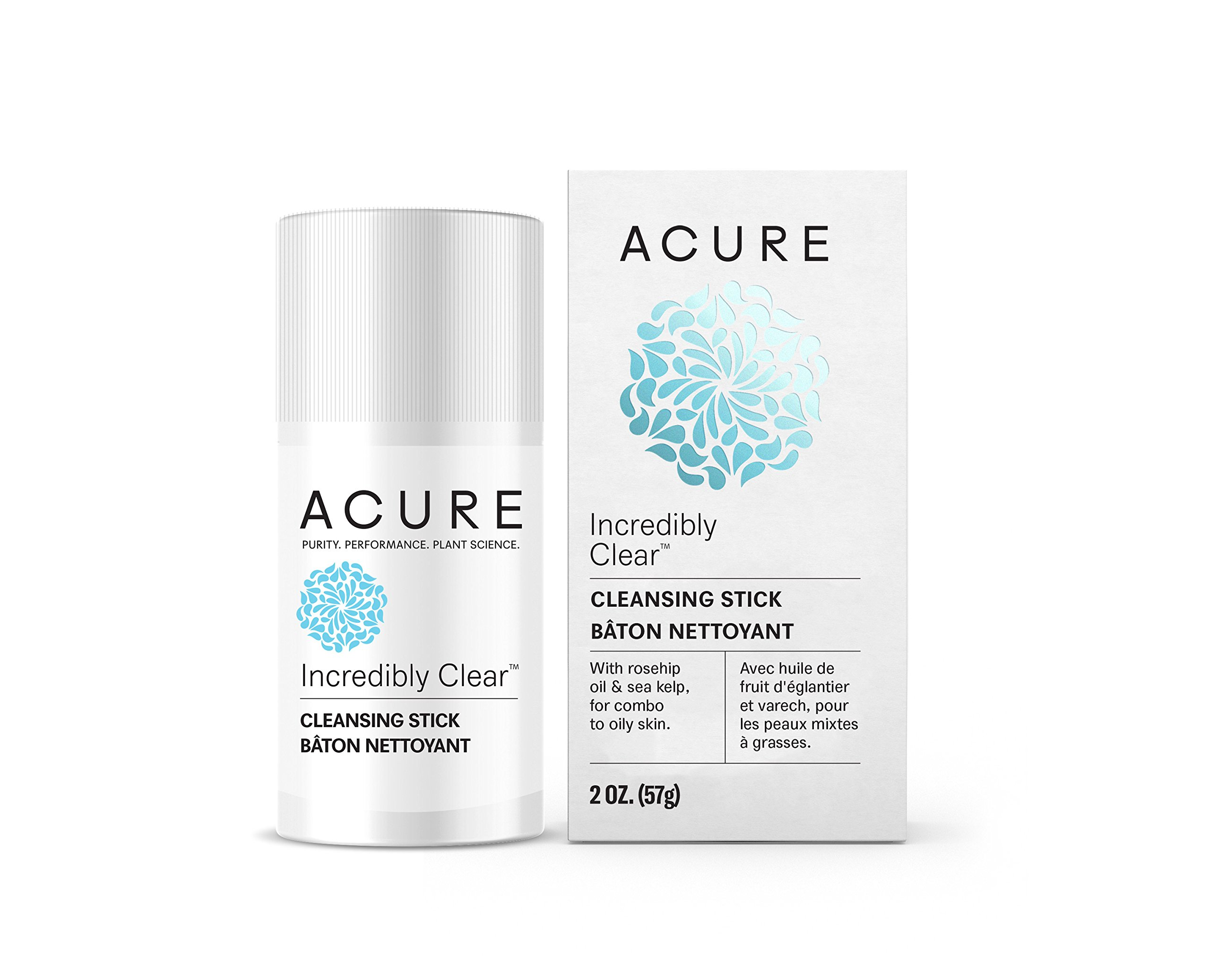 ACURE Incredibly Clear Cleansing Stick, 2 Oz. (Packaging May Vary)