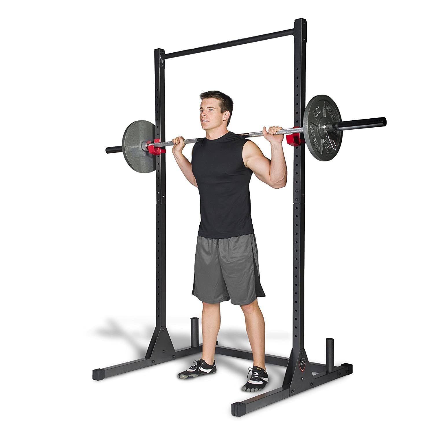 Amazon CAP Barbell Power Rack Exercise Stand Deluxe Utility
