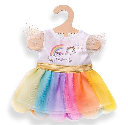 Heless Puppenkleidung Kleid Regenbogenfee in 2 Größen Kleidung & Accessoires