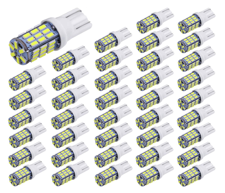Aucan 40pcs Super Bright RV Trailer T10 921 194 42-SMD 12V Car Backup Reverse LED Lights Bulbs Light Width Lamp Xenon White by AucanLed