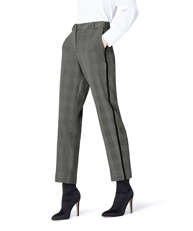 TALLA 38 (Talla del fabricante: Small). FIND Pantalón de Cuadros para Mujer