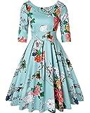 MINTLIMIT Women's 1950s Retro Vintage Cocktail Party Short Sleeve Swing Dress