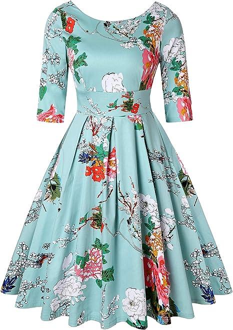 Mint midi dress summer dress as a suit M-XL long vintage dress made of natural fabric green viscose dress in white peas waist elastic