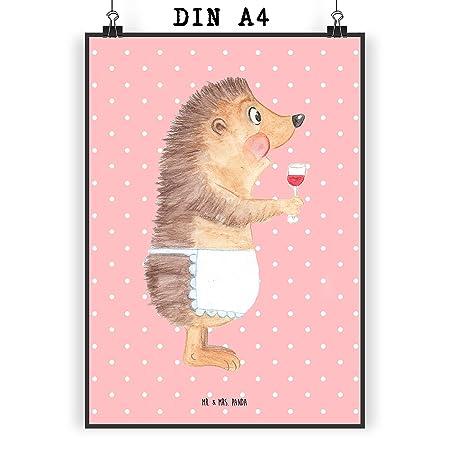 Mr Mrs Panda Poster Din A4 Igel Mit Wein Wein Spruch Igel