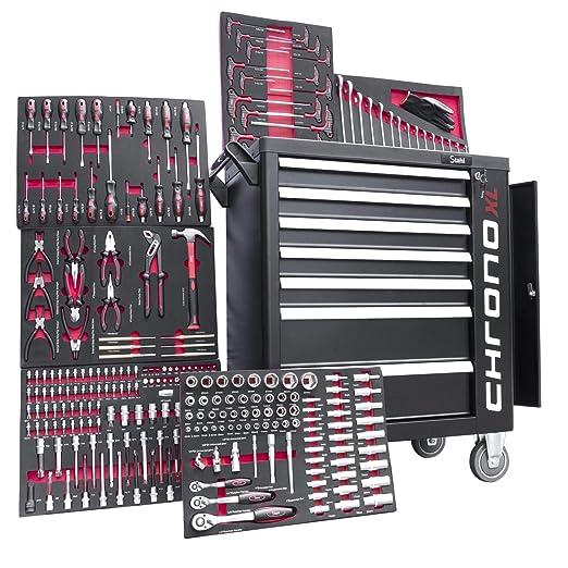 Carro de taller de 6 de 7 cajones lleno de herramientas ...