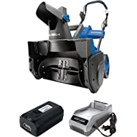 Snow Joe iON18SB-PRO 40-Volt iONMAX Cordless Brushless Single Stage Snowblower Kit | 18-Inch | W/ 5.0-Ah Battery and…