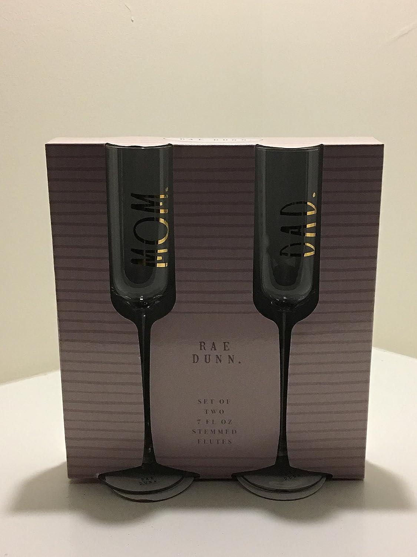 Rae Dunn Long-Stem Champagne Flute Set of 2 Mom Dad