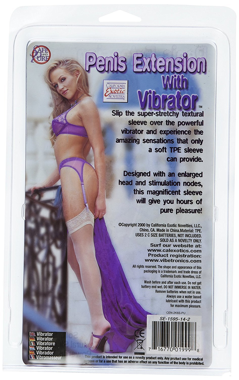 California Vibrator Exotics Penis Extension Sleeve with Vibrator California dcee4f