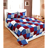 SACHIN ENTERPRISES Presents Super Soft Glace Cotton Double BEDSHEET with Two Pillow Covers SIE-90 * 90INCHES