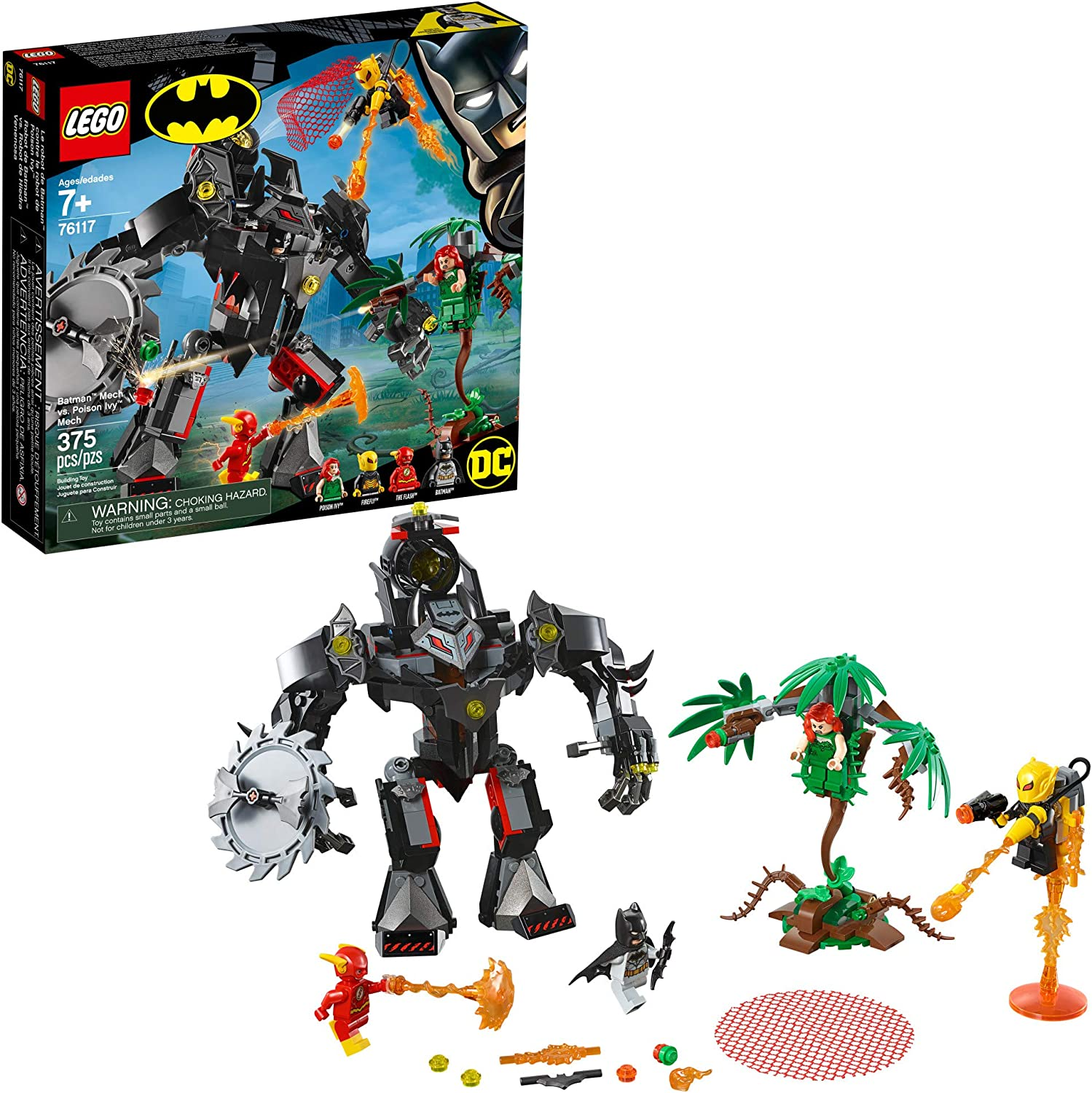 LEGO DC Batman: Batman Mech vs Poison Ivy Mech 76117 Building Kit (375 Pieces)