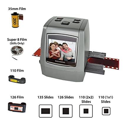 .com: magnasonic all-in-one high resolution 22mp film scanner ...
