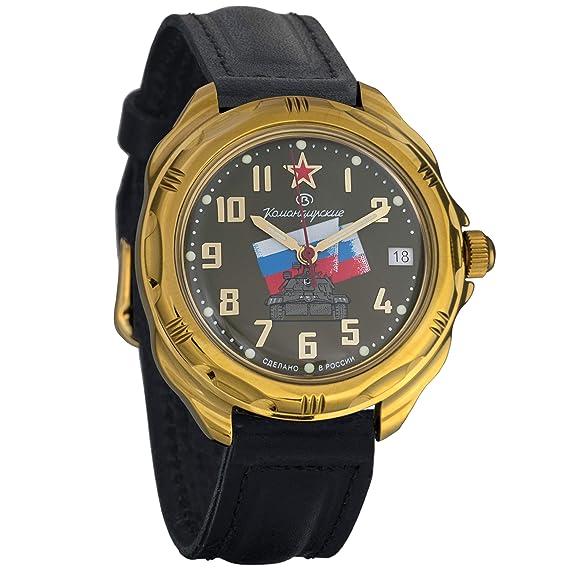 Vostok Komandirskie Tank 2415 219435 Ruso Militar reloj mecánico: Amazon.es: Relojes