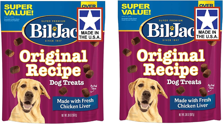 Bil-Jac Liver Dog Treats 2 Pack of 20 Ounce