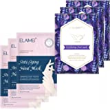 Foot Peel Mask 3 Packs and Moisturizing Hand Mask 3 Packs, Natural Lavender Extract,hand and feet masks Remove calluses Make