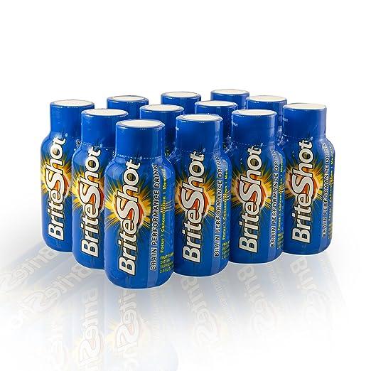 Amazon.com: briteshot Natural cerebro rendimiento bebida ...