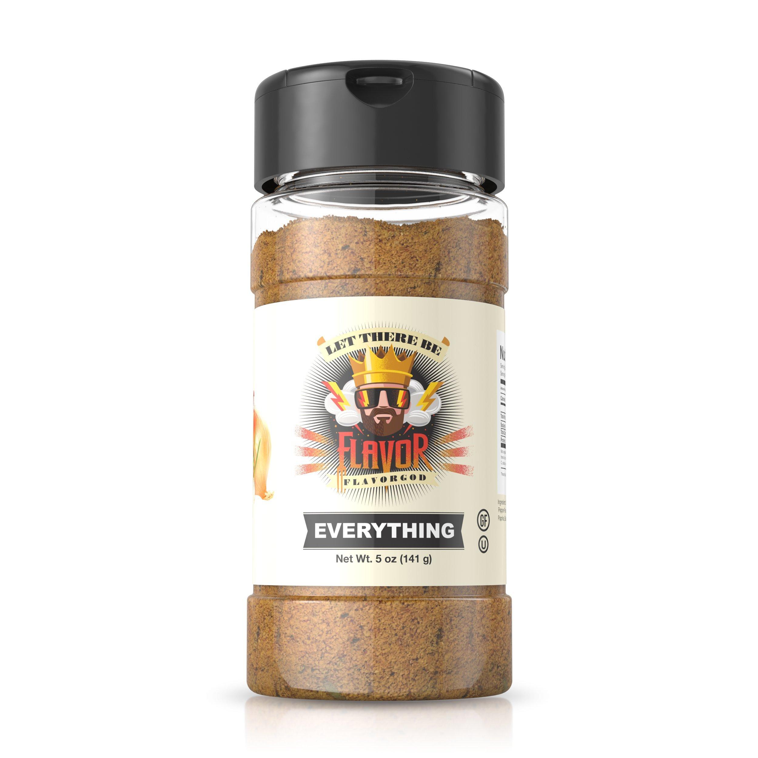 Flavor God Best-Selling Everything Seasonings, Gluten Free, Low Sodium, Paleo, Vegan, No MSG, Kosher Certified 5oz