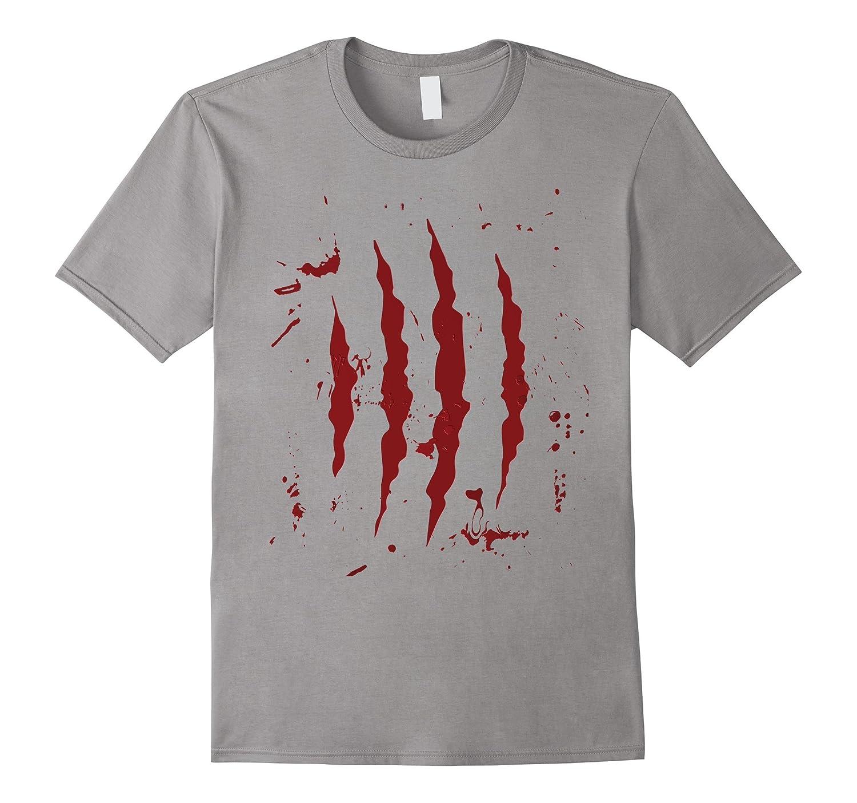Bloody Scars Torn Halloween Tshirt for Boys Girls Women Men-FL