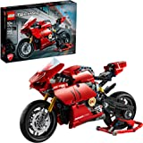 LEGO Technic Ducati Panigale V4 R 42107 Motorcycle Toy Building Kit, Build A Model Motorcycle, Featuring Gearbox and Suspensi