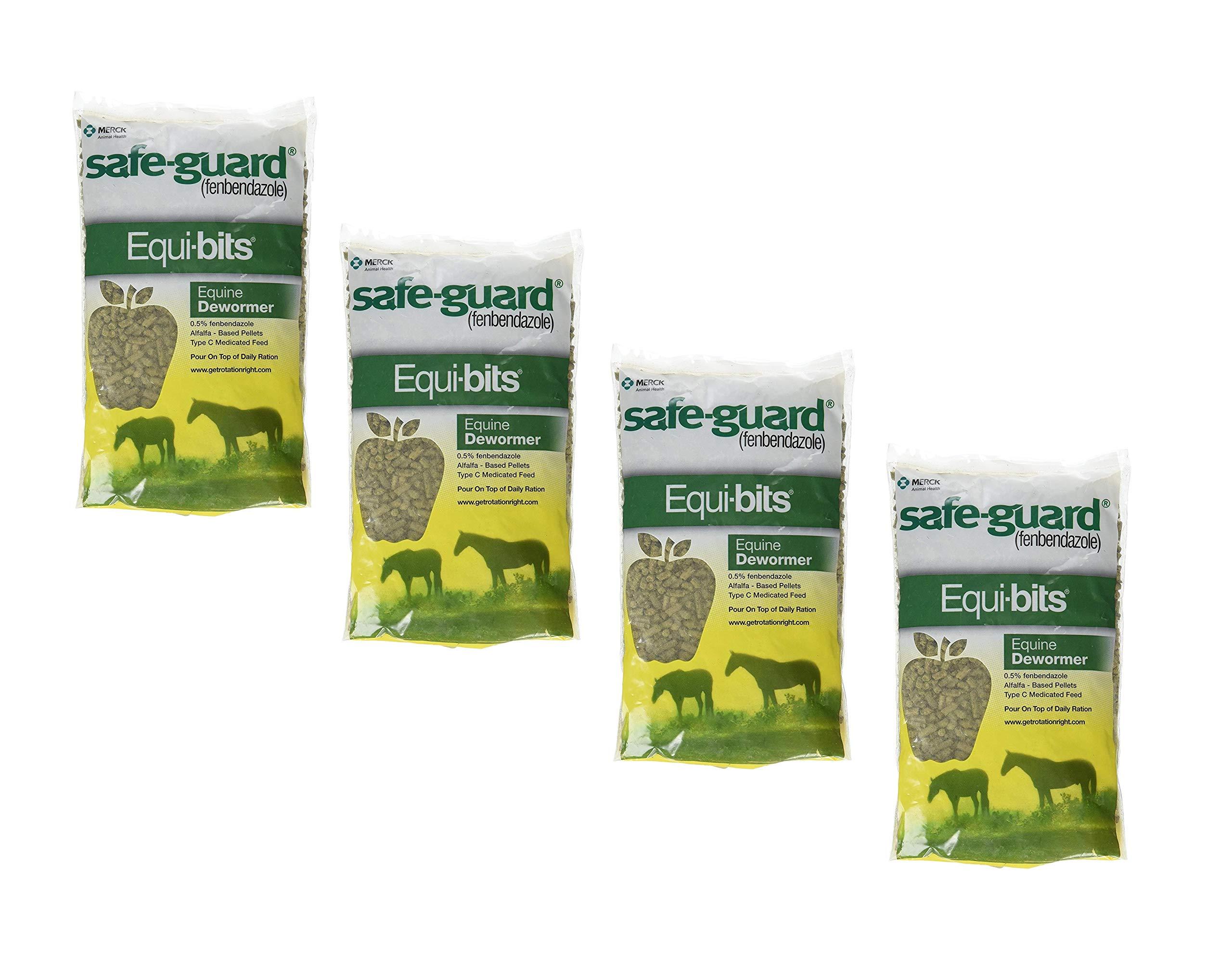 Intervet Safeguard Dewormer Pellets for Horses, 1.25-Pound (4 Pack)