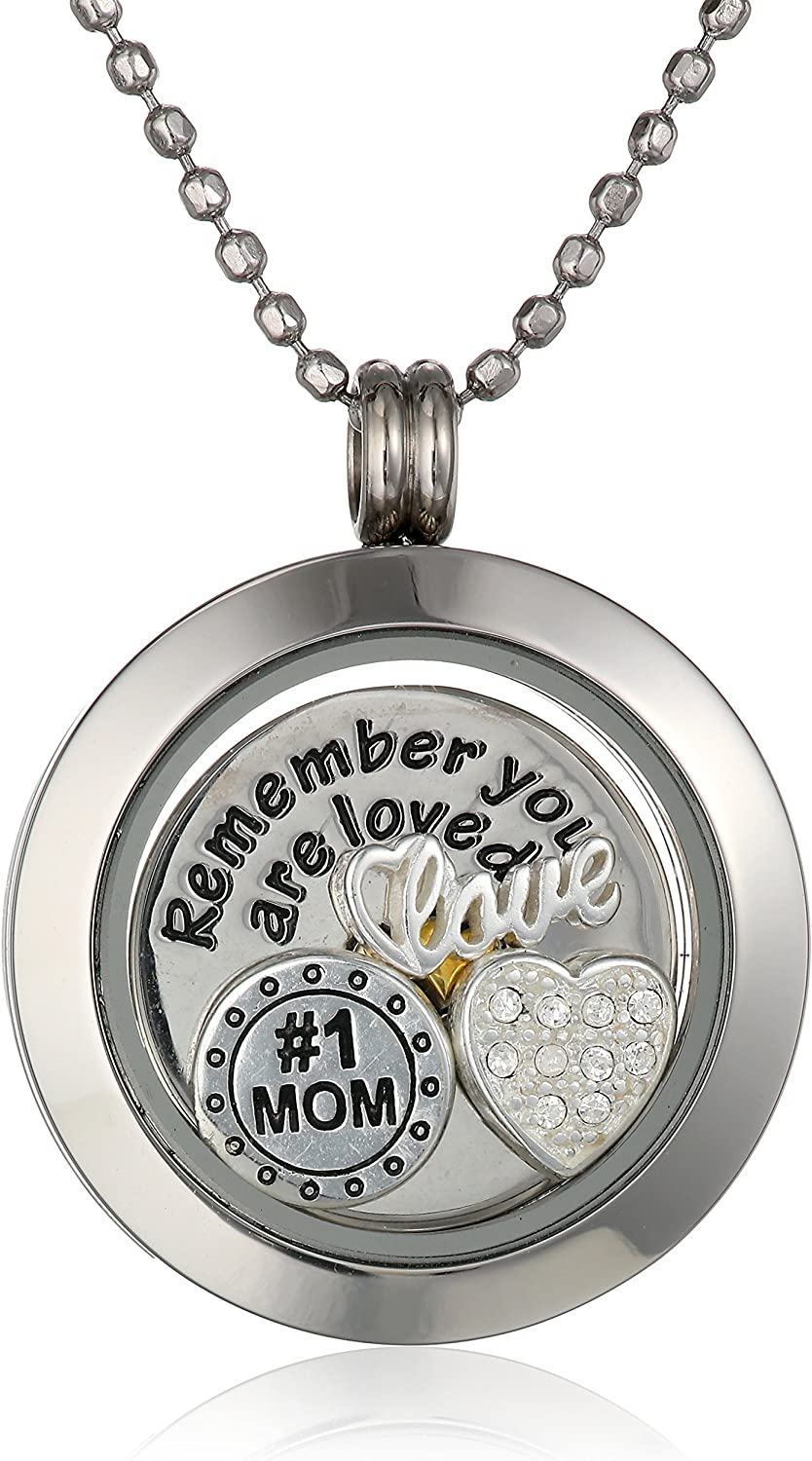 Charmed Lockets Mom You Are Loved Pendant Necklace, 24""