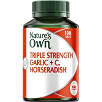 Nature's Own Triple Strength Garlic, Vitamin C + Horseradish - 100 Tablets