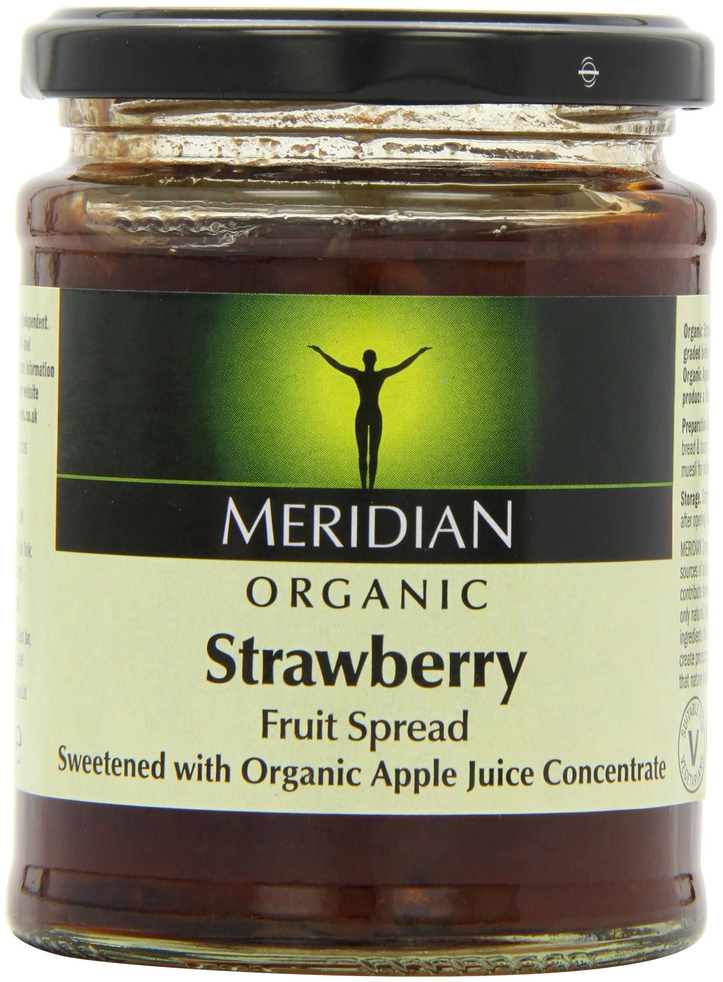 Meridian Organic Strawberry Fruit Spread 284 g (Pack of 6)