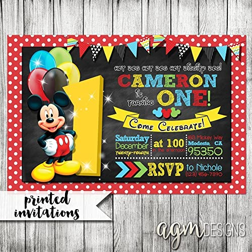 Image Unavailable Not Available For Color Mickey Mouse Birthday Invitation