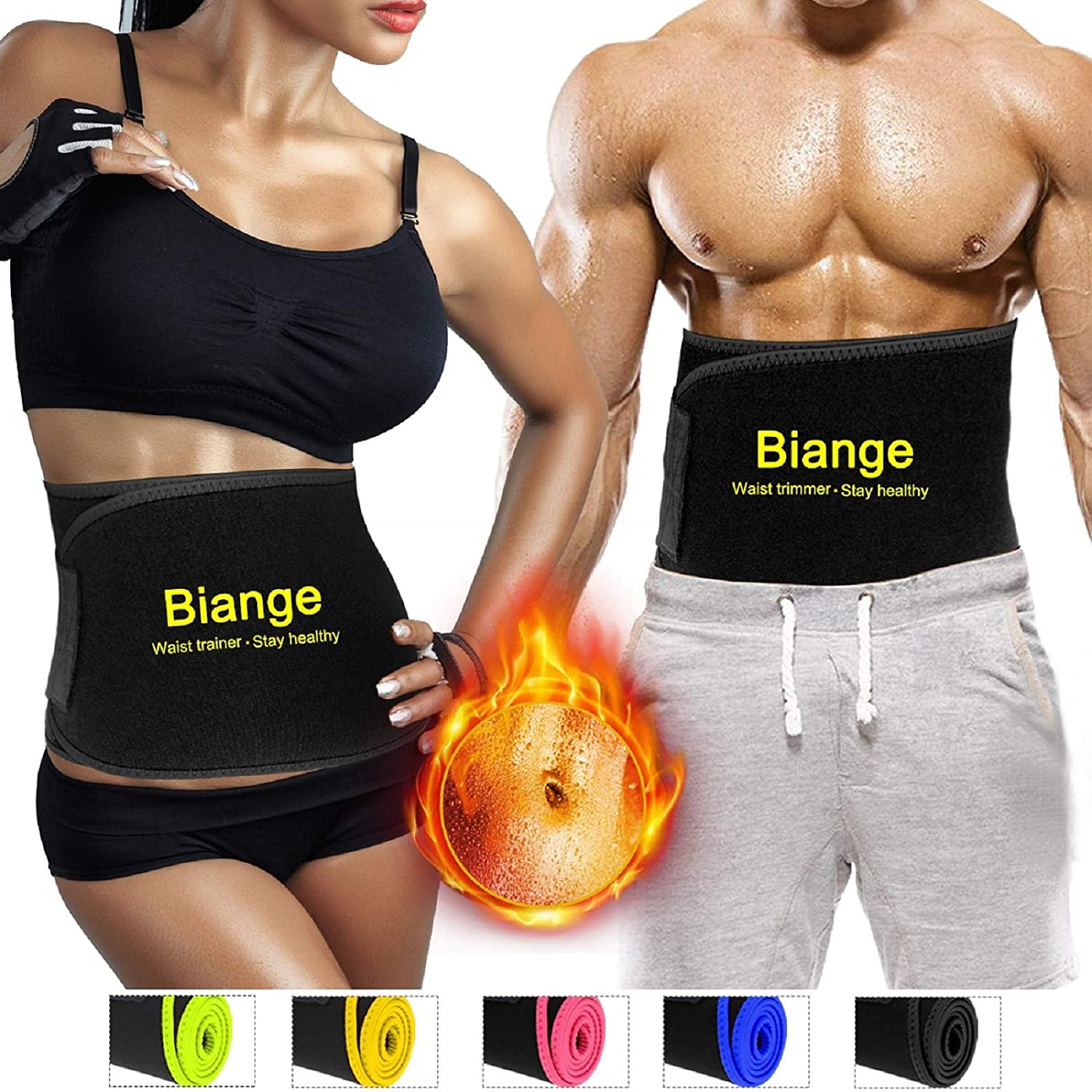3e539d860a Amazon.com  Biange Waist Trimmer Belt for Women   Men
