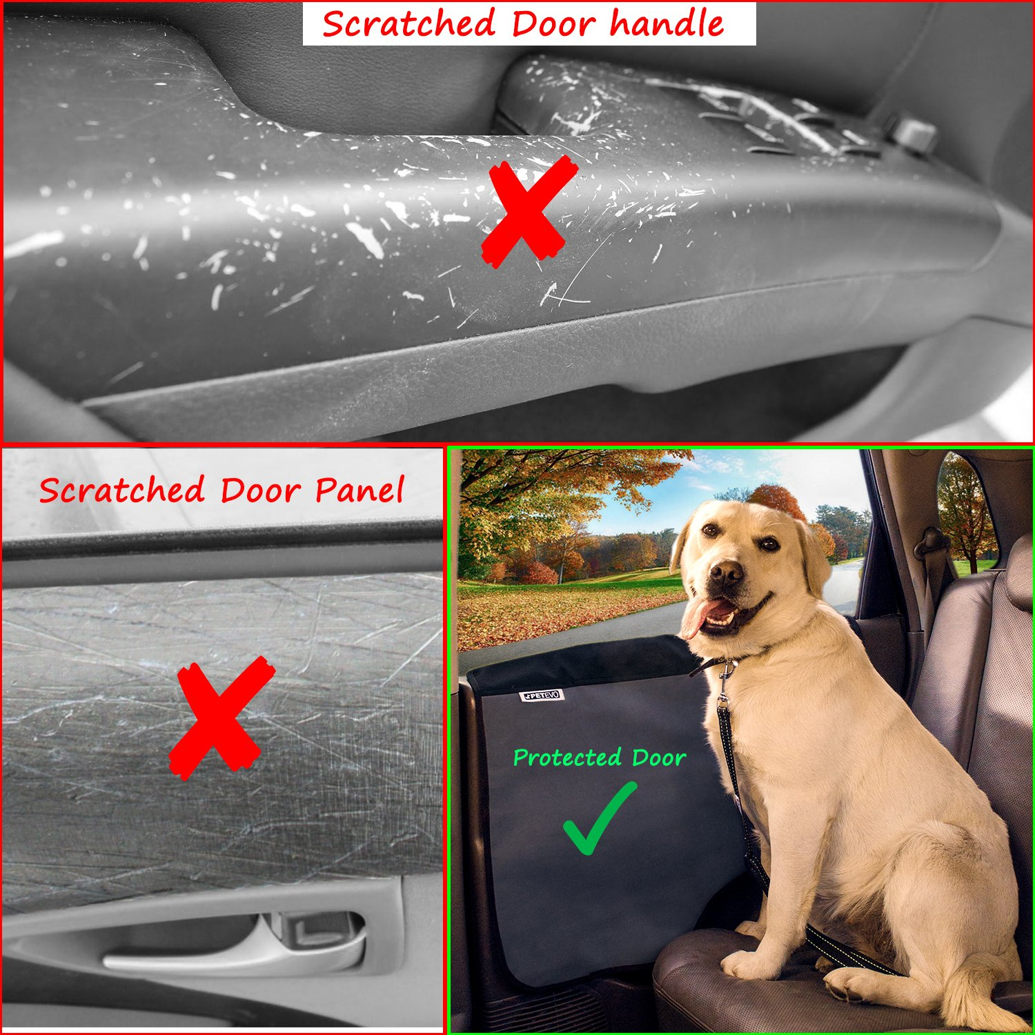 Amazon Pet Car Door Cover For Dogs Set Of 2 Interior