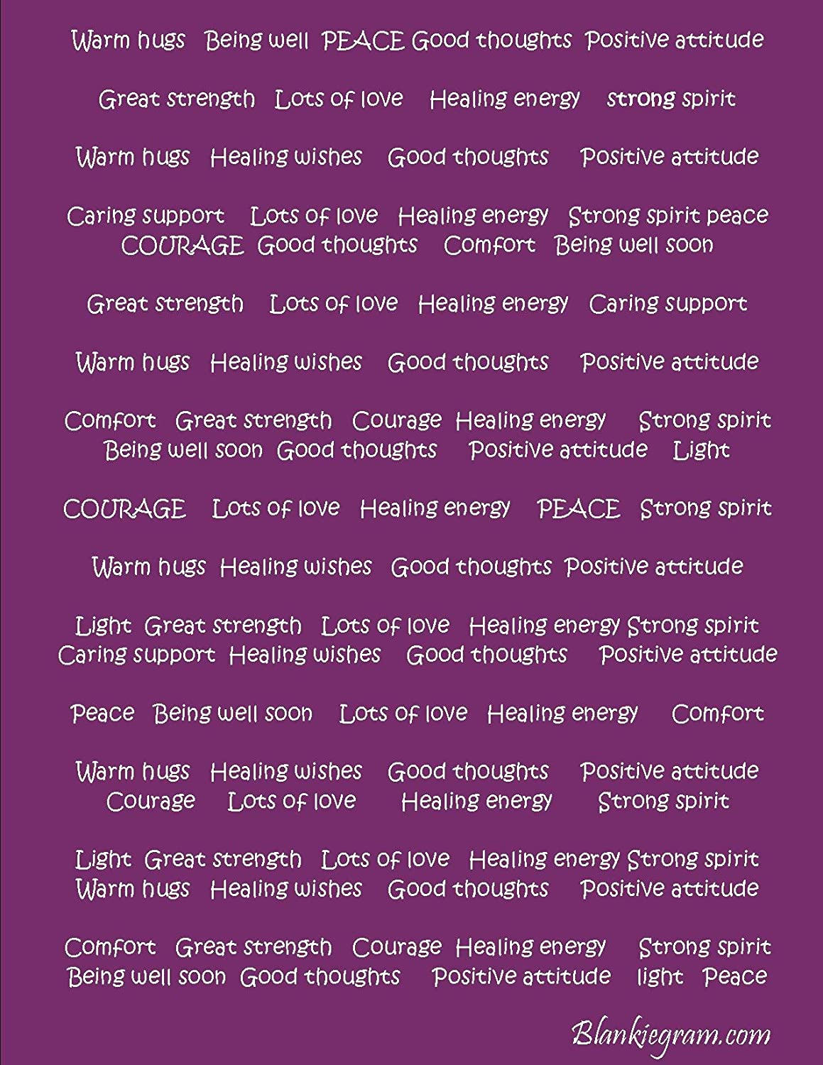 BlankieGram Healing Thoughts Messages