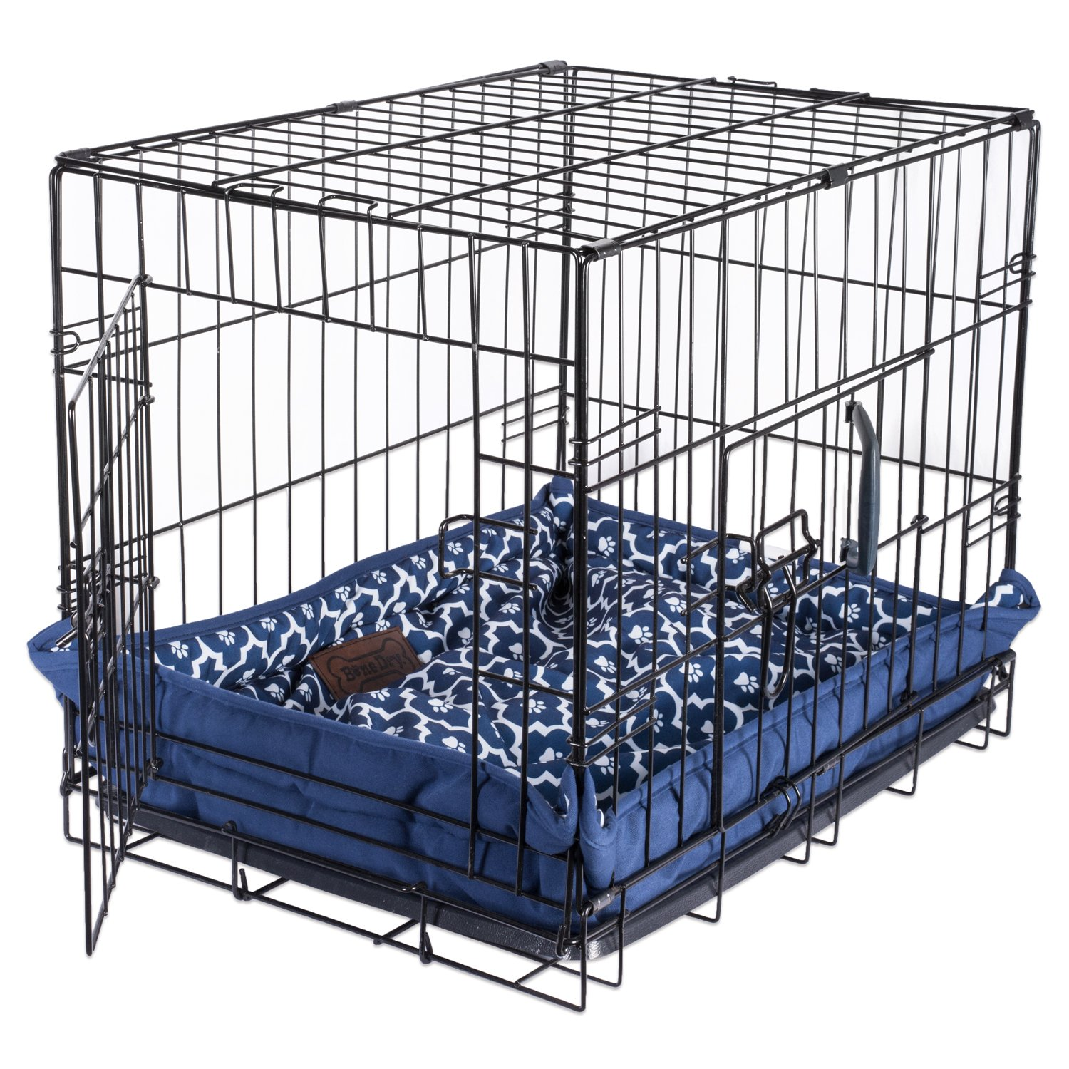 DII Bone Dry Reversible Lattice Kennel & Crate Corner Snapping Pet Mat, 22x34x2.5'' Large Rectangle Bed Dogs or Cats-Gray by Bone Dry (Image #5)