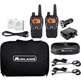 Midland - X-TALKER T77VP5, 36 Channel FRS Two-Way Radio - Up to 38 Mile Range Walkie Talkie, 121 Privacy Codes, and NOAA Weat
