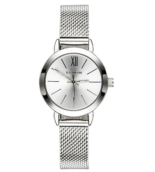 KASHIDUN Relojes Hombre Acero Inoxidable Reloj de Pulsera de Lujo Moda Cronómetro