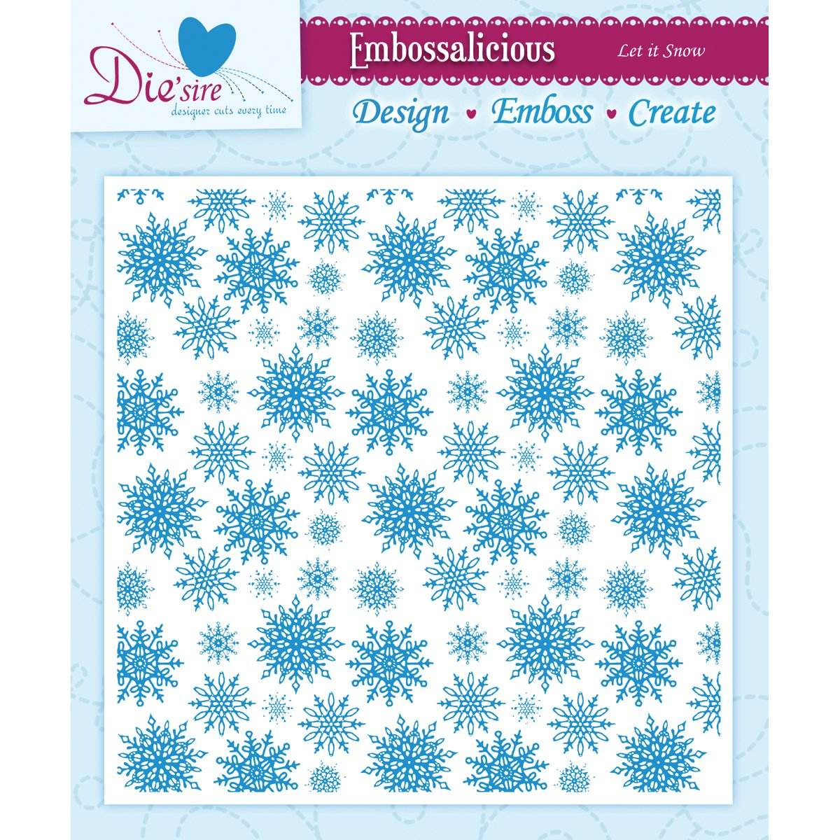 """Choice of 7 Designs Crafters Companion Embossalicious Embossing Folders 8/"""" x 8/"""""""
