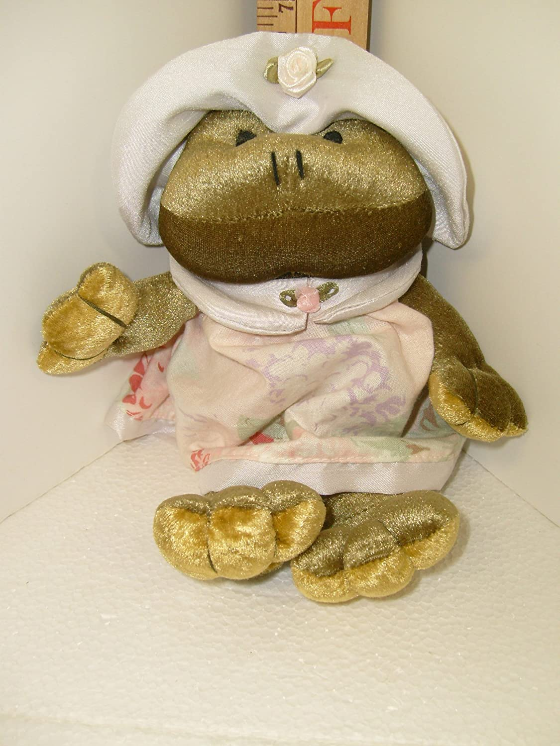 Retired Russ Berrie 9 FLORISSA THE FROG TOAD Plush