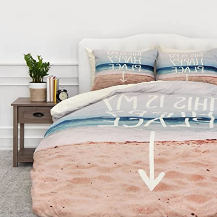 Amazon.com: SE 1 Piece Sunny Beach Themed Duvet Cover Twin ...