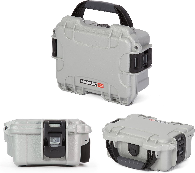 Nanuk 903 Waterproof Hard Case with Foam Insert Silver