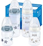 Nuk First Choice Plus Set mit 4 Anti-Colic Babyflaschen inklusive Silikon-Trinksaugern und Flaschenbox, 1 Stück, 2 x 150 ml / 2 x 300 ml