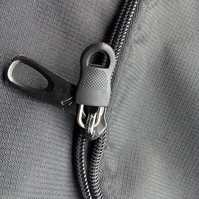 Zapour 20 Pieces Zipper Replacement Zipper Tag Zip Fixer for Clothes or Bags, Black