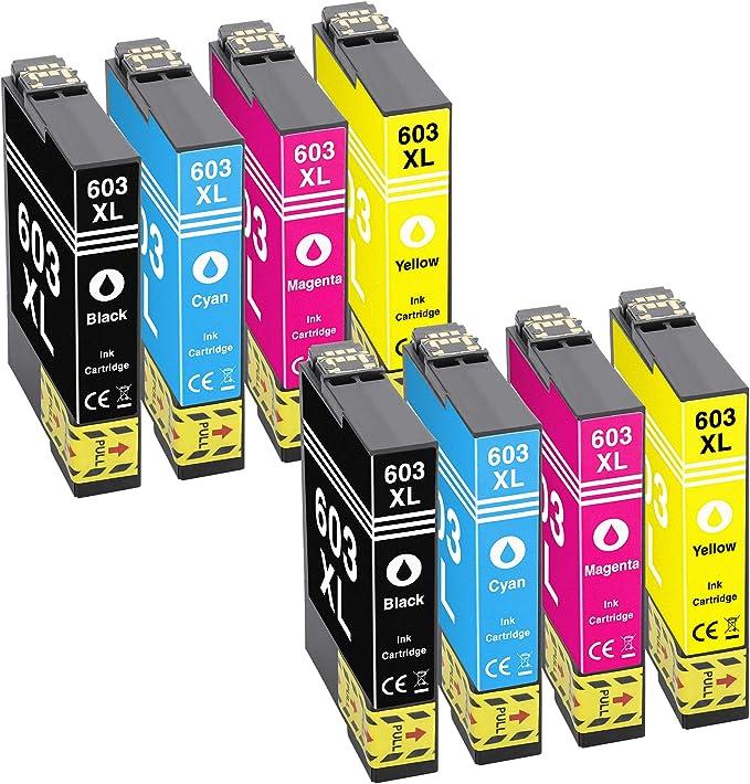 Tito Express Platinumserie 8 Patronen Passend Zu Epson 603xl 603 Xl Expression Home Xp 2100 Xp 2105 Xp 3100 Xp 3105 Xp 4100 Xp 4105 Workforce Wf 2810 Wf 2830 Wf 2835 Wf 2850 Dwf Bürobedarf Schreibwaren