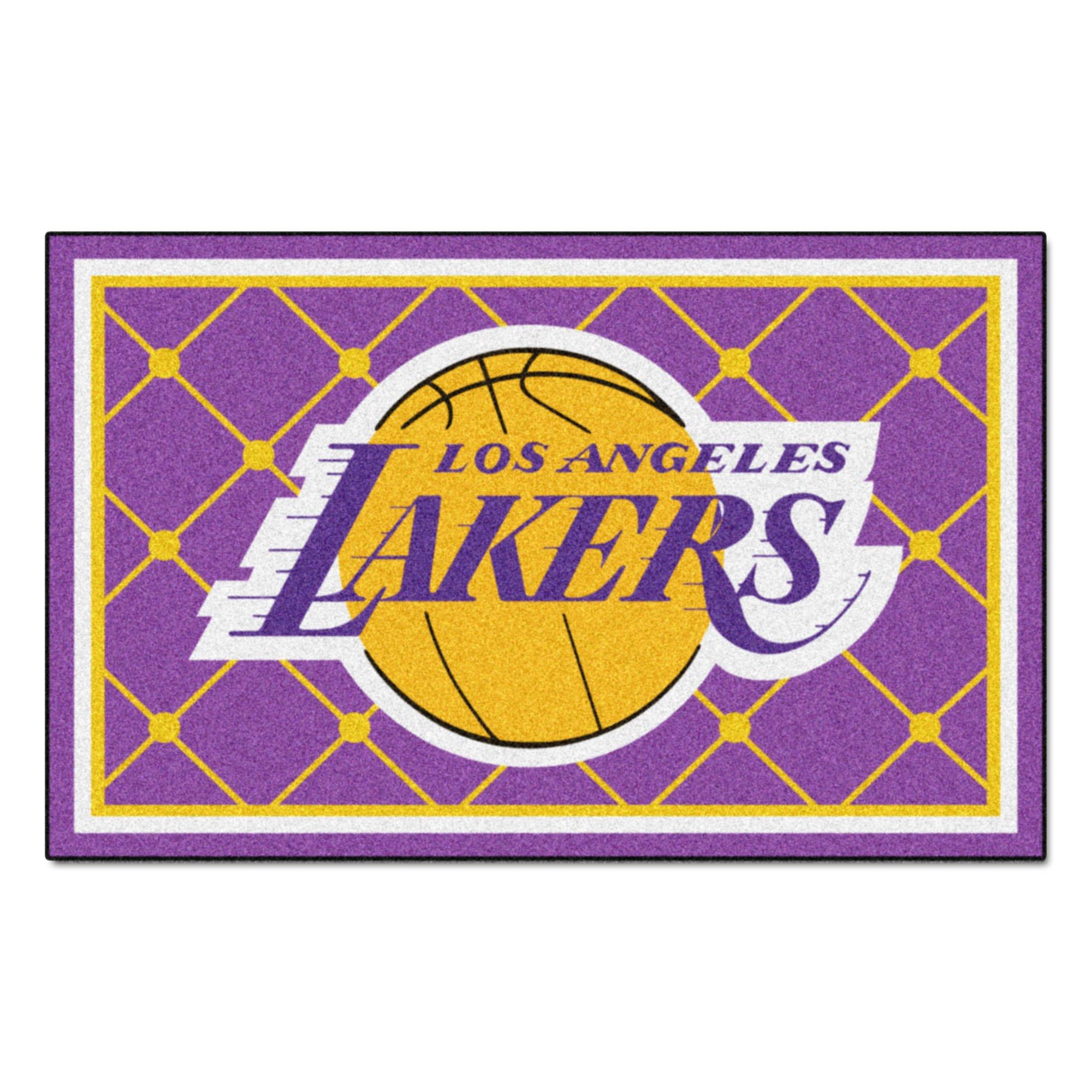 FANMATS NBA Los Angeles Lakers Nylon Face 5X8 Plush Rug