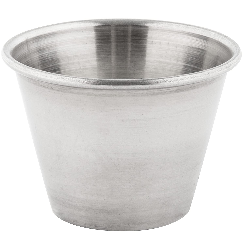 Individual Condiment Stainless Steel Ramekins Sauce Cups 2.5 oz 1 DZ - 12 PCS Winco SLSA002