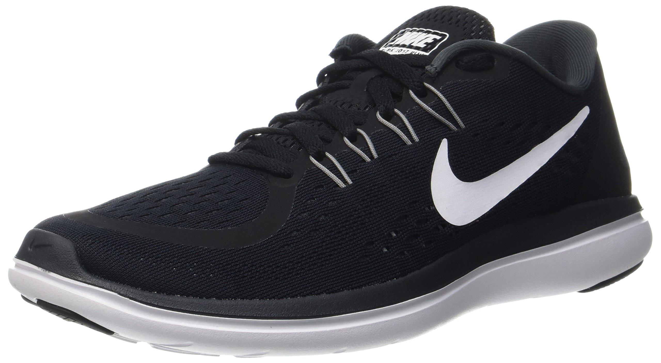 Nike Mens Flex 2017 RN Black White Anth Cool Grey Size 6